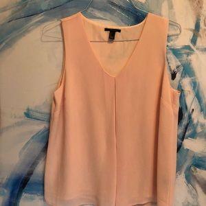 Blush pink mauve Top with inverted pleat Sz L